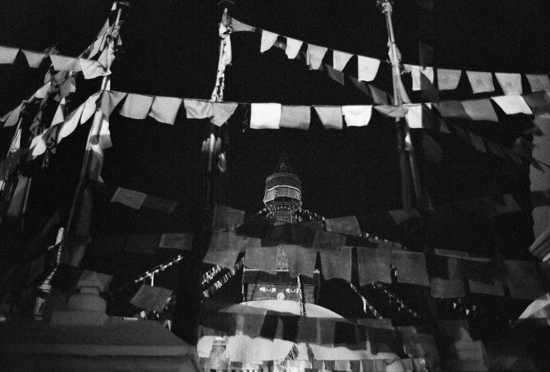 Stupa at Night, Boudhanath, Nepal